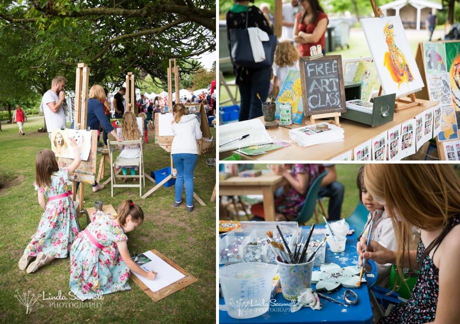 Art activities - Art in the Park Leamington Spa 2015