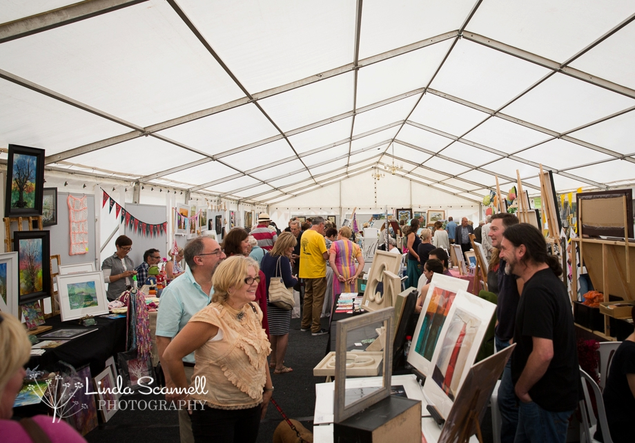 In the main marquee at Art in the Park