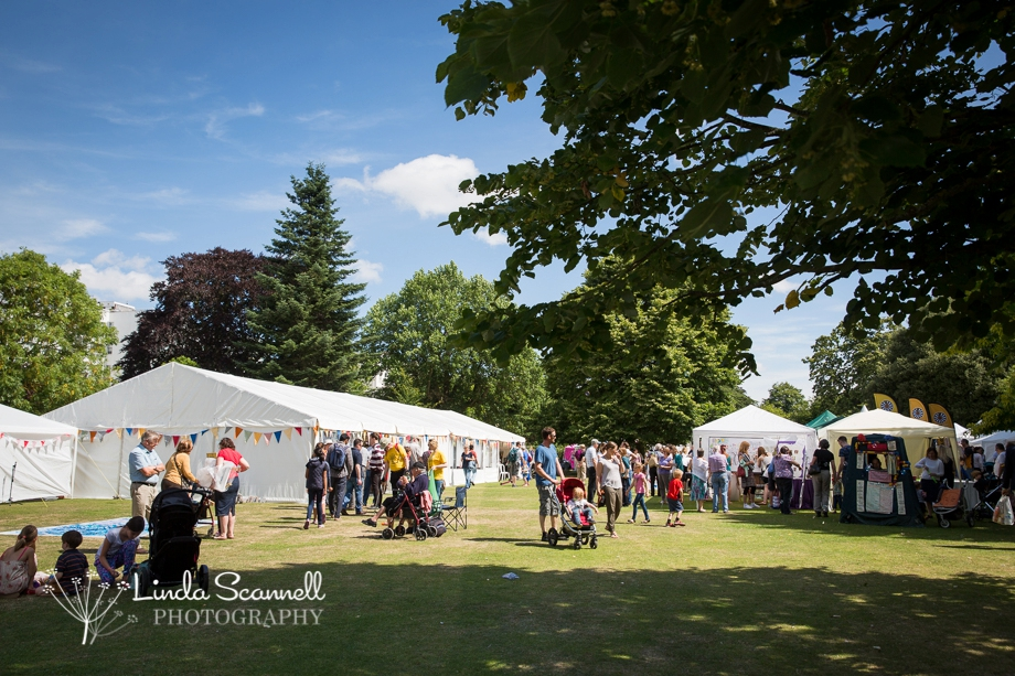 Crowds at Art in the Park 2015 Leamington Spa