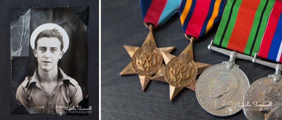 British sailor 1945 and Burma Star medal