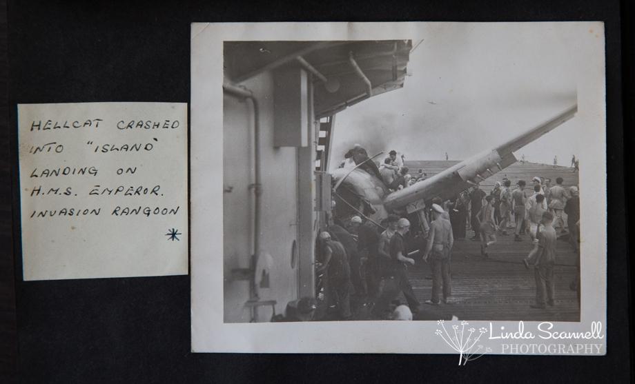 Crashed Hellcat HMS Emperor invasion of Rangoon
