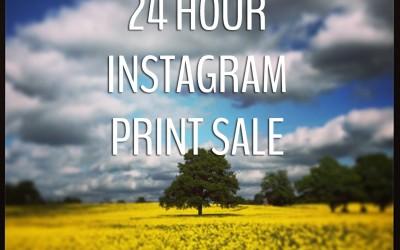 Instagram prints: 24 hour flash sale