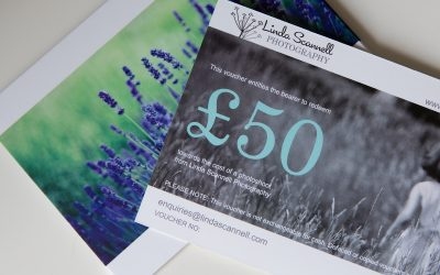 Photography gift vouchers for fund-raisers