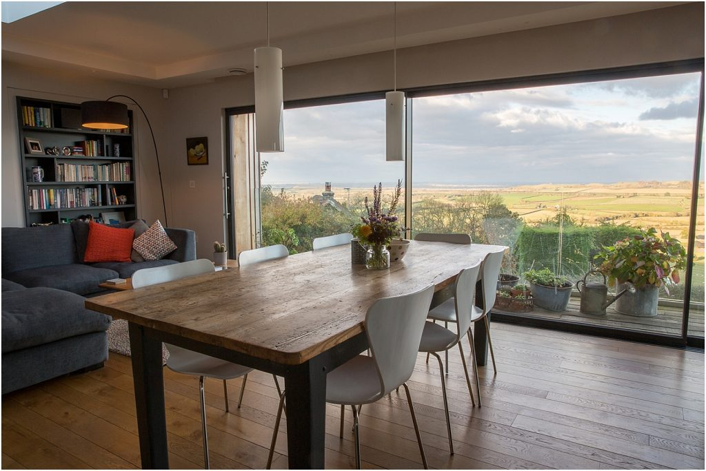 Living room with a fabulous Warwickshire view   Property photography by Linda Scannell