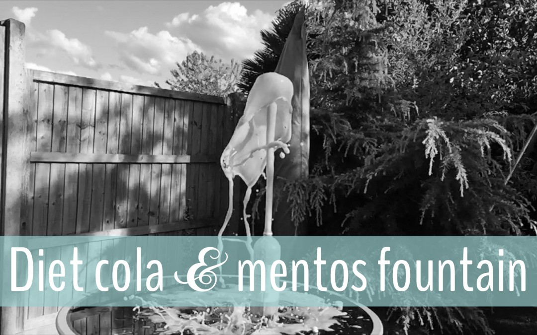 How to make a Diet Coke and Mentos fountain { school holiday fun }