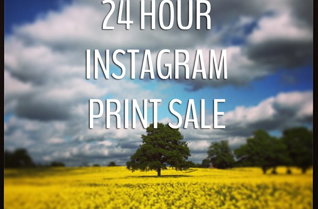 Instagram prints: 24 hour flash sale