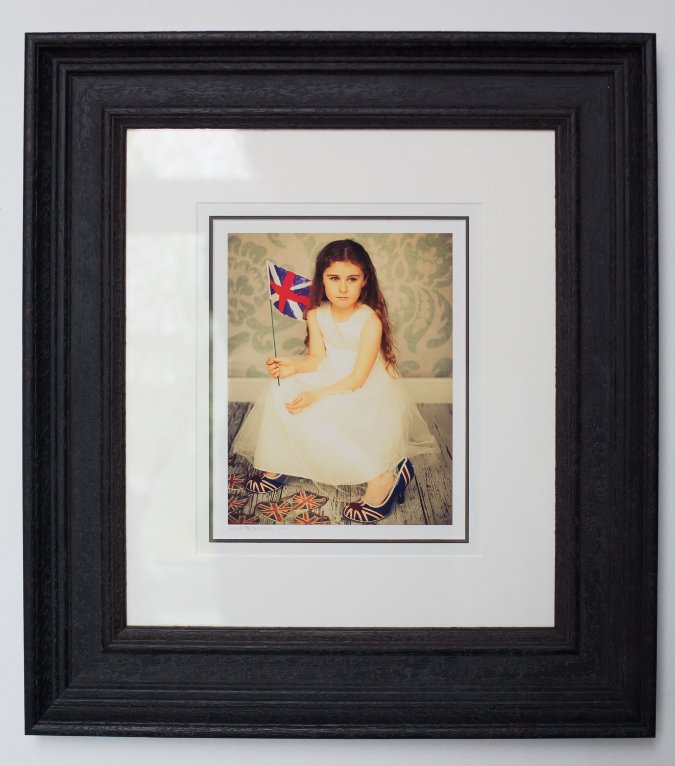 Portrait photo framed and mounted