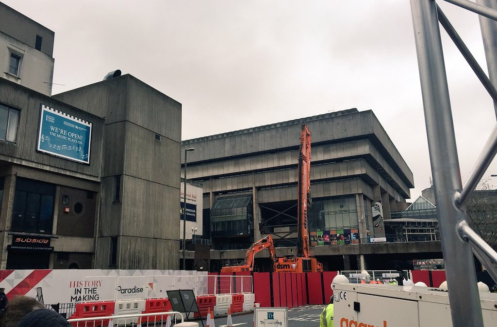 Birmingham Central Library demolition and a few quick smartphone video tips