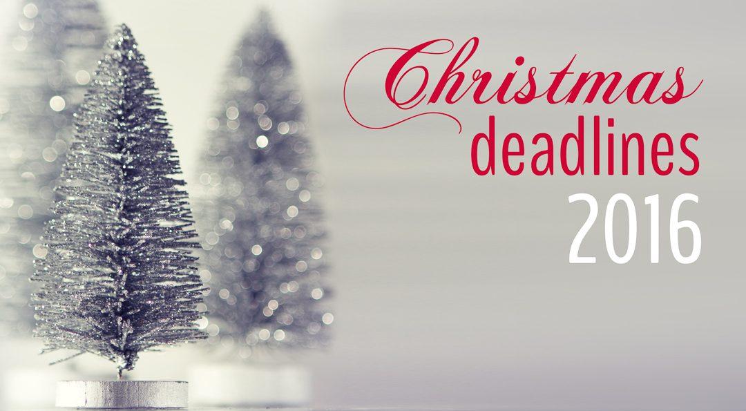 Christmas photo order deadlines 2016