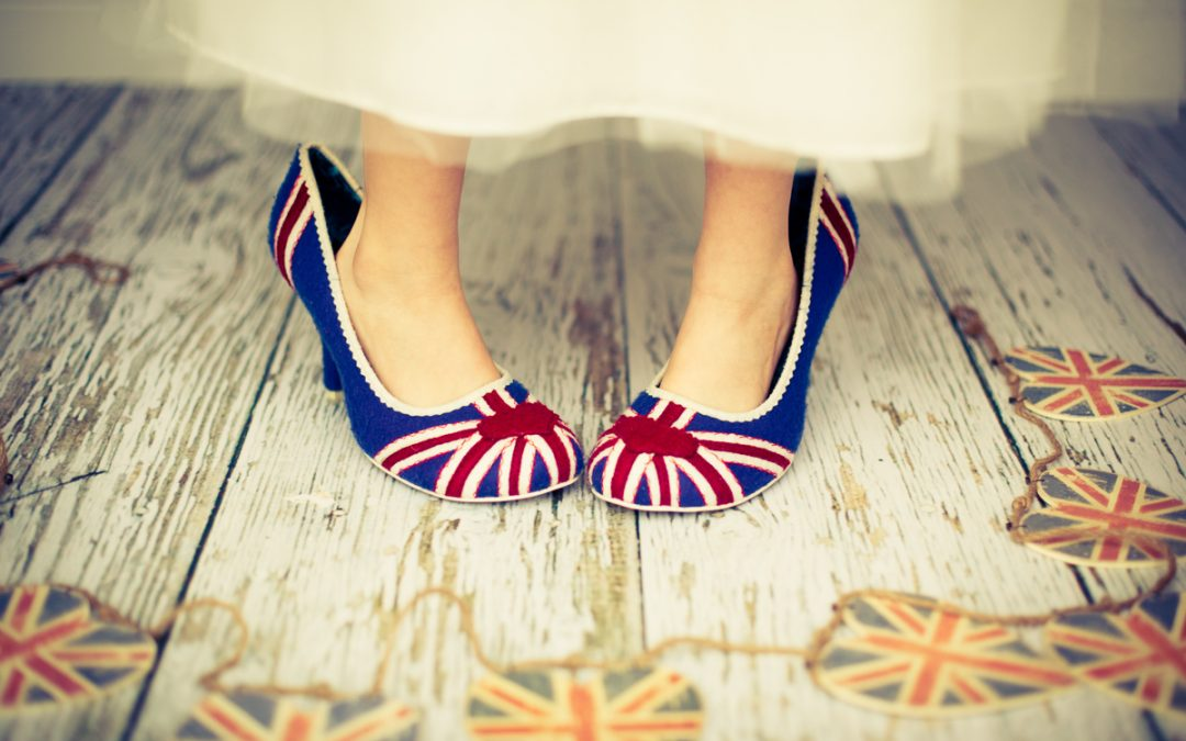 Union Jack shoes - editorial photography in Warwickshire - Linda Scannell