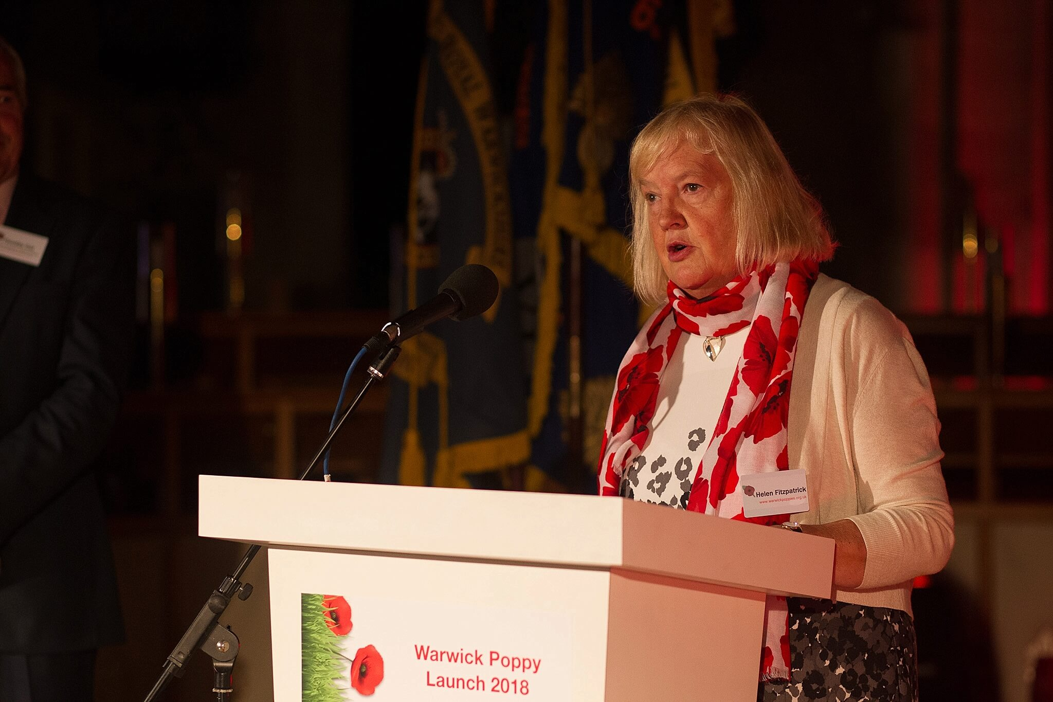 Warwick Poppies 2018 launch - Helen Fitzpatrick